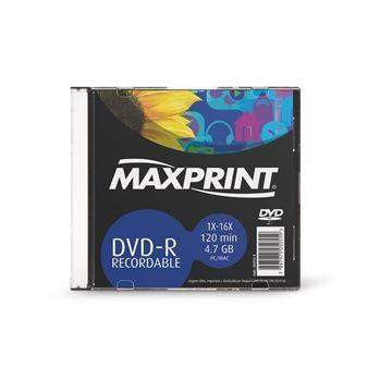 Imagem de DVD-R GRAVAVEL 4.7GB 120MIN 4X C/ CX ACRILICA MAXPRINT