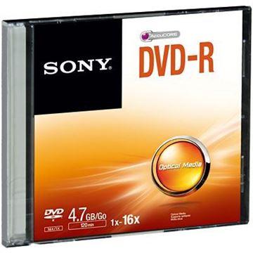 Imagem de DVD-R GRAVAVEL 4.7GB 120MIN 4X C/ CX ACRILICA SONY
