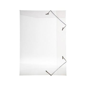 Imagem de PASTA ABA ELASTICA PVC FINA 1/2 OFICIO LINE CRISTAL REF.252.H DELLO