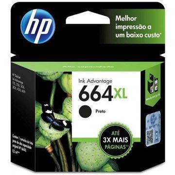 Imagem de CARTUCHO HP F6V31AB DESKJET (664 XL ) 8,5 ML PRETO